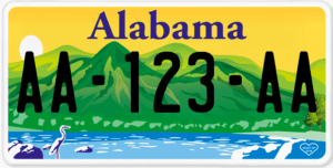 Plaque USA 30×15 Alabama Plaque USA – 30×15 – SIV