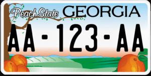 Plaque USA 30×15 Géorgie