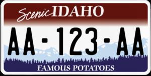 Plaque USA 30×15 Idaho