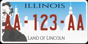 Plaque USA 30×15 Illinois
