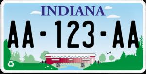Plaque USA 30×15 Indiana