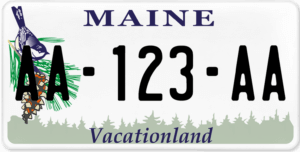 Plaque USA 30×15 Maine