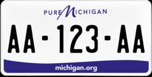 Plaque USA 30×15 Michigan