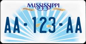Plaque USA 30×15 Mississippi
