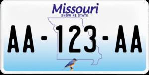 Plaque USA 30×15 Missouri