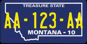 Plaque USA 30×15 Montana