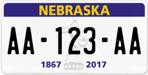 Plaque USA 30×15 Nebraska