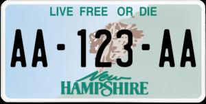 Plaque USA 30×15 New Hampshire