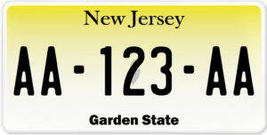 Plaque USA 30×15 New Jersey