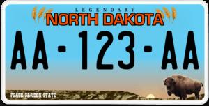 Plaque USA 30×15 Dakota du Nord