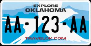 Plaque USA 30×15 Oklahoma