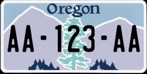 Plaque USA 30×15 Oregon
