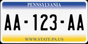 Plaque USA 30×15 Pennsylvanie