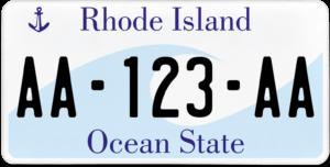 Plaque USA 30×15 Rhode Island