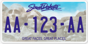 Plaque USA 30×15 Dakota du Sud