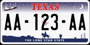 Plaque USA 30×15 Texas