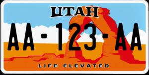 Plaque USA 30×15 Utah