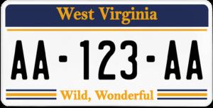 Plaque USA 30×15 Virginie Occidentale