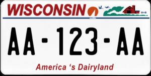 Plaque USA 30×15 Wisconsin