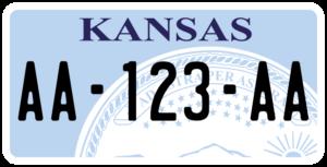 Plaque USA 30×15 Kansas
