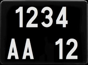 Plaque 4×4 – COLLECTION – ancien numéro – 275×200