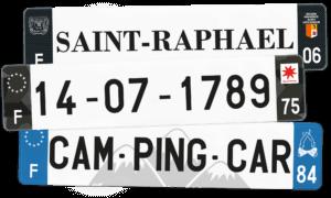 Plaque Camping Car – 520×110 – 100% Personnalisée