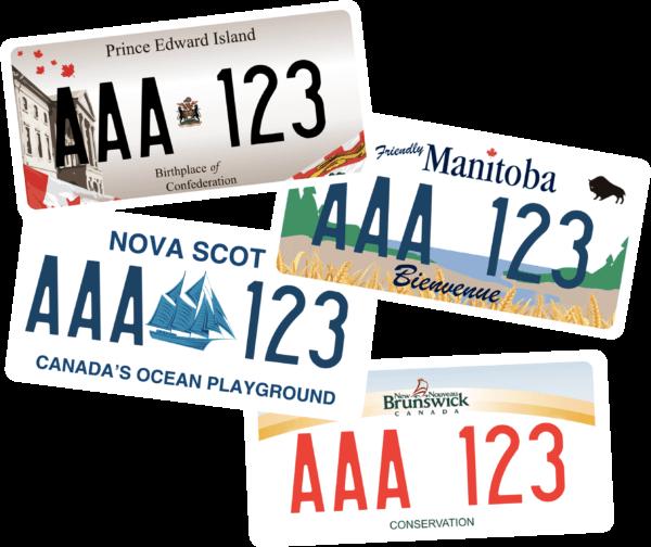 Plaque Immatriculation personnalisée Canada