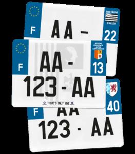 Plaque 4×4 – 275×200 – 100% Homologuée