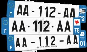 Plaque SUV – 520×110 – 100% Homologuée