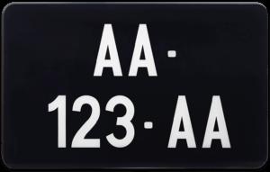 Plaque Moto – COLLECTION – nouveau numéro 210×130