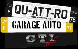 Plaque AUTO - 520x110 - 100% Personnalisée