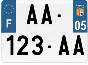 Plaque 4×4 – 275×200 – 05 – Hautes-Alpes