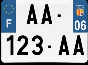 Plaque 4×4 – 275×200 – 06 – Alpes-Maritimes