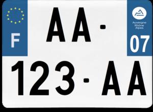 Plaque 4×4 – 275×200 – 07 – Ardèche