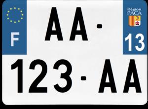 Plaque 4×4 – 275×200 – 13 – Bouches-du-Rhône