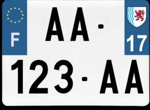 Plaque 4×4 – 275×200 – 17 – Charente-maritime