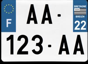 Plaque 4×4 – 275×200 – 22 – Côtes-d'Armor