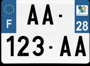 Plaque 4×4 – 275×200 – 28 – Eure-et-loir