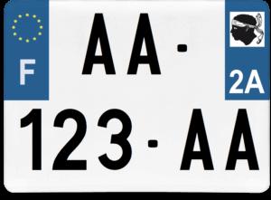 Plaque 4×4 – 275×200 – 2a – Corse-du-Sud