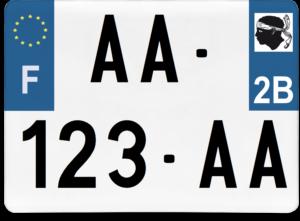 Plaque 4×4 – 275×200 – 2b – Haute-Corse
