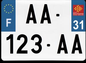 Plaque 4×4 – 275×200 – 31 – Haute-Garonne