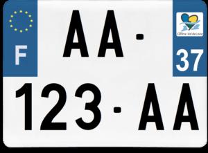 Plaque 4×4 – 275×200 – 37 – Indre-et-Loire