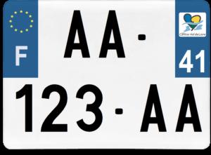Plaque 4×4 – 275×200 – 41 – Loir-et-cher