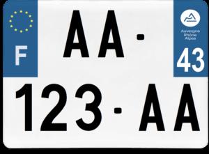 Plaque 4×4 – 275×200 – 43 – Haute-Loire