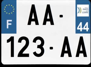 Plaque 4×4 – 275×200 – 44 – Loire-Atlantique