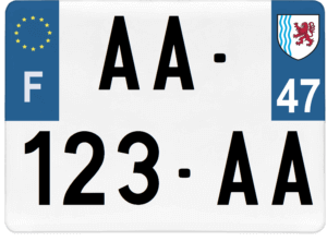 Plaque 4×4 – 275×200 – 47 – Lot-et-Garonne