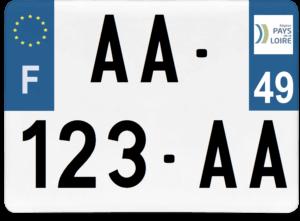 Plaque 4×4 – 275×200 – 49 – Maine-et-loire