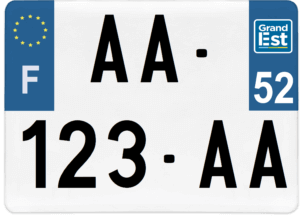 Plaque 4×4 – 275×200 – 52 – Haute-Marne