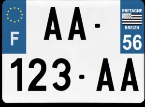 Plaque 4×4 – 275×200 – 56 – Morbihan