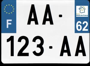 Plaque 4×4 – 275×200 – 62 – Pas-de-Calais